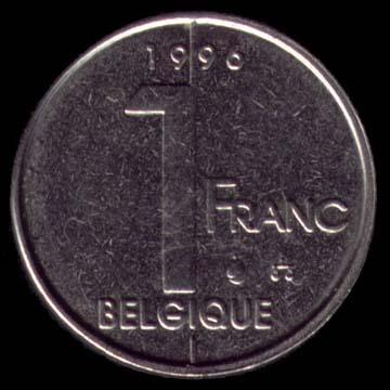 Pieces De Monnaie En Franc Belge