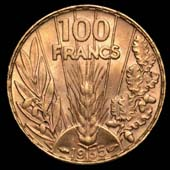 100 francs Bazor revers