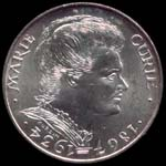100 francs 1984 Marie Curie avers
