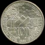 100 francs 1985 �mile Zola revers