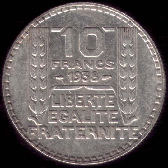 10 francs turin argent - Valeur ancienne piece ...