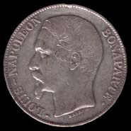 5 francs Louis-Napoléon avers