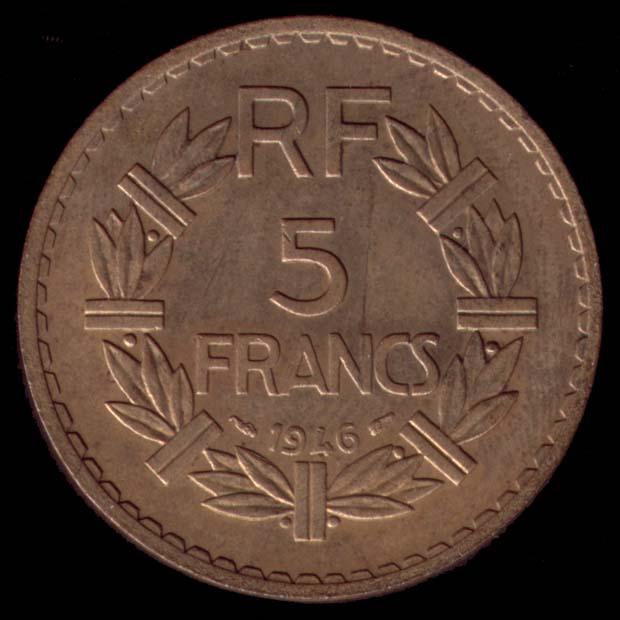 5 francs lavrillier bronze aluminium. Black Bedroom Furniture Sets. Home Design Ideas