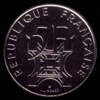 5 francs 1989 Tour Eiffel avers